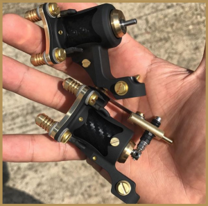 Two black n gold legacy rotary machines