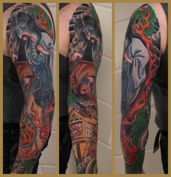 Enzo Barbareschi ghost tattoo sleeve